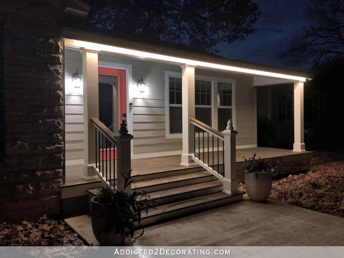 LED Tape Lights Outdoors (Front Porch Lights | Porch lighting ...