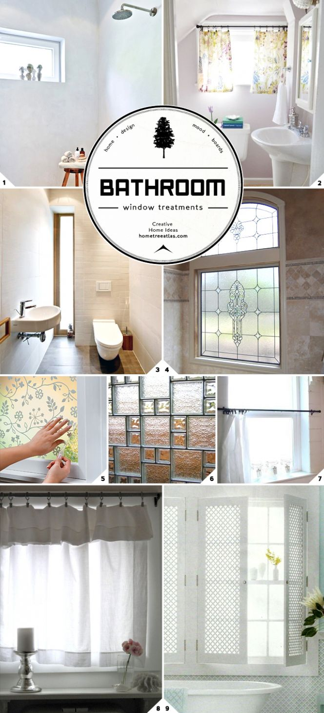 Light and Privacy: Ideas for Bathroom Window Treatments | Home ..