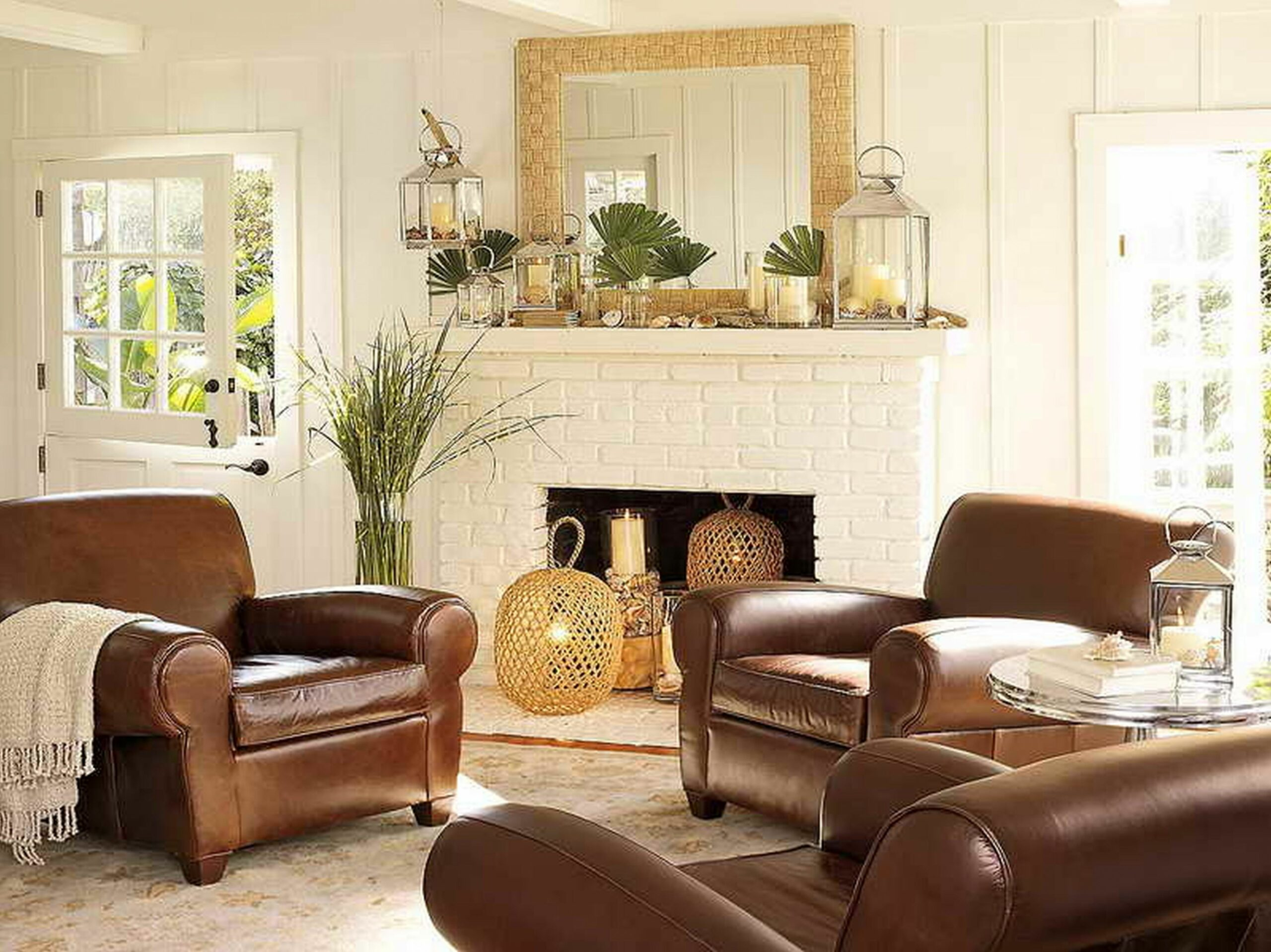 light brown leather sofa decorating ideas - Hunkie - living room ideas brown couch