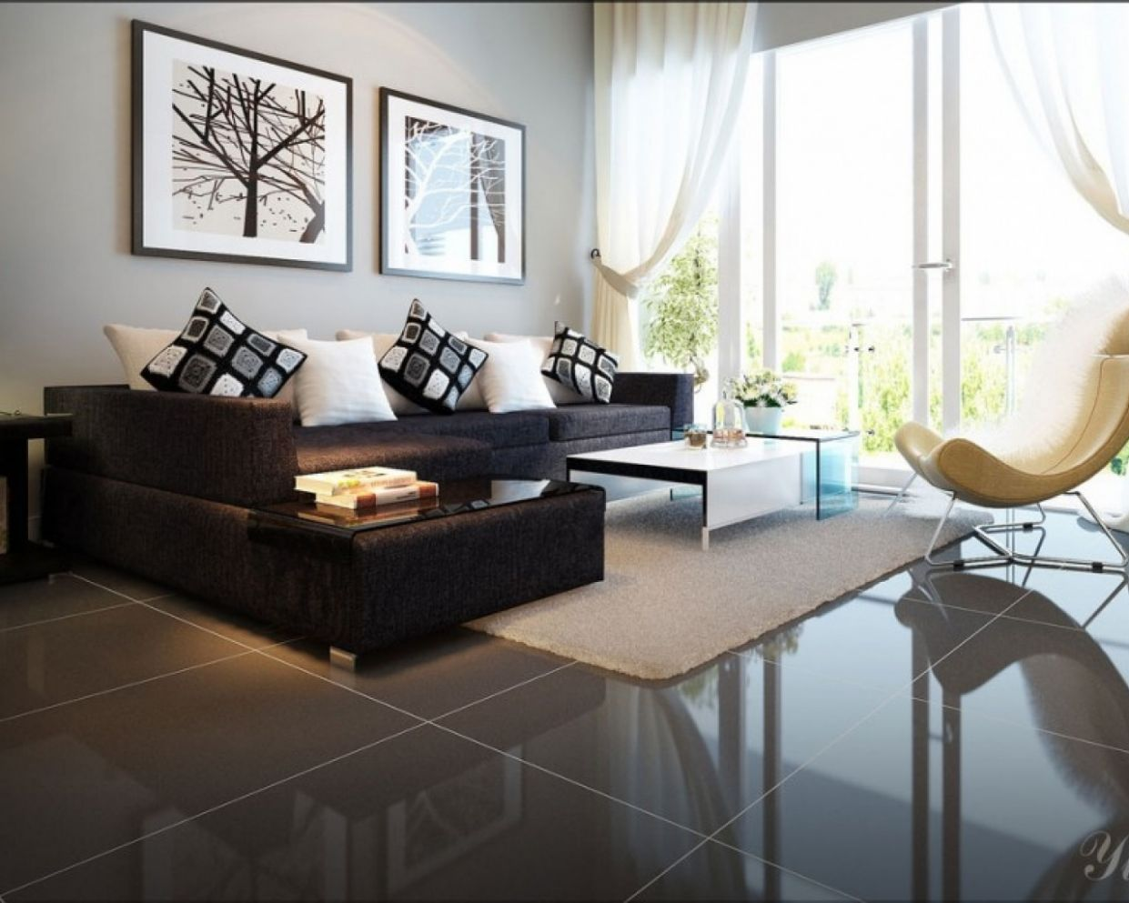 Living Room Ideas Dark Couch Kitchen Design Color Relaxing Layout ...