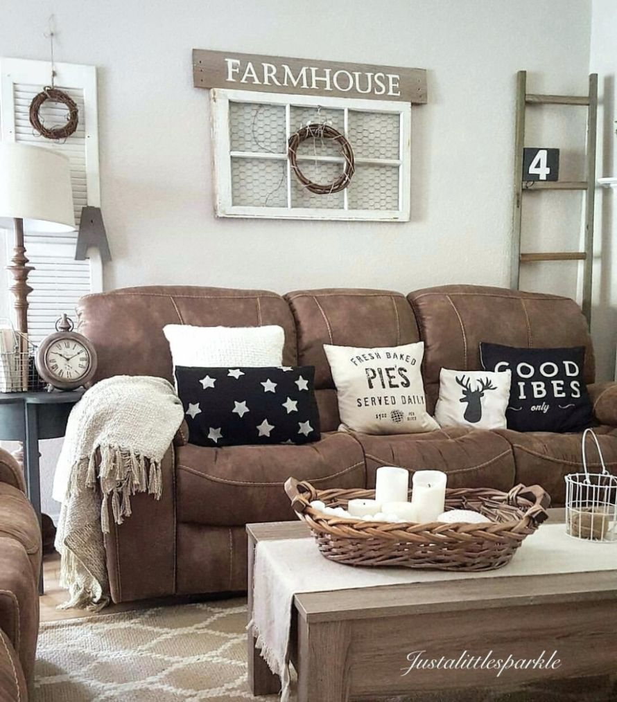 Livingroom Dark Brown Sofa Color Walls Couch Living Room Ideas ..