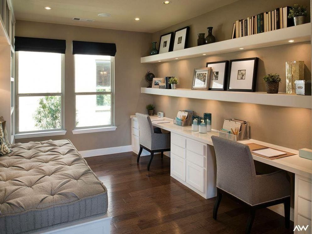 Love this for a guest room. (With images) | Guest bedroom office ...