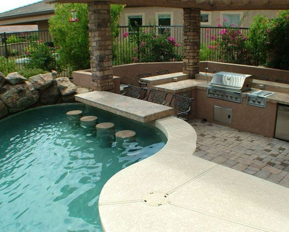 Lovely Outdoor Kitchen And Pool Design Ideas | Backyard pool - backyard pool kitchen ideas