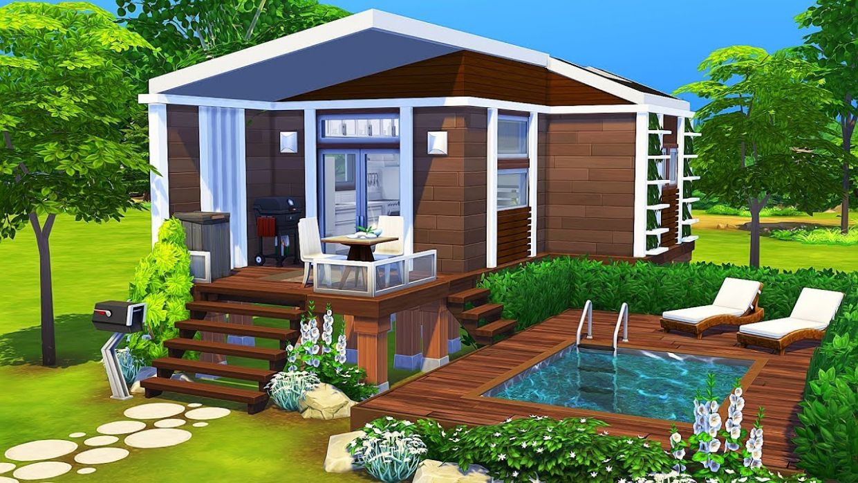 LUXURIOUS TINY HOUSE ? | The Sims 11 | Speed Build - tiny house sims 4
