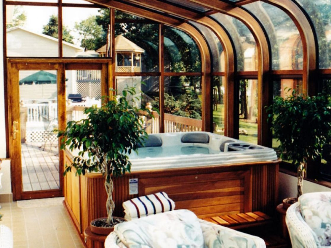 Luxury sunrooms, hot tub room additions hot tub chemicals ...