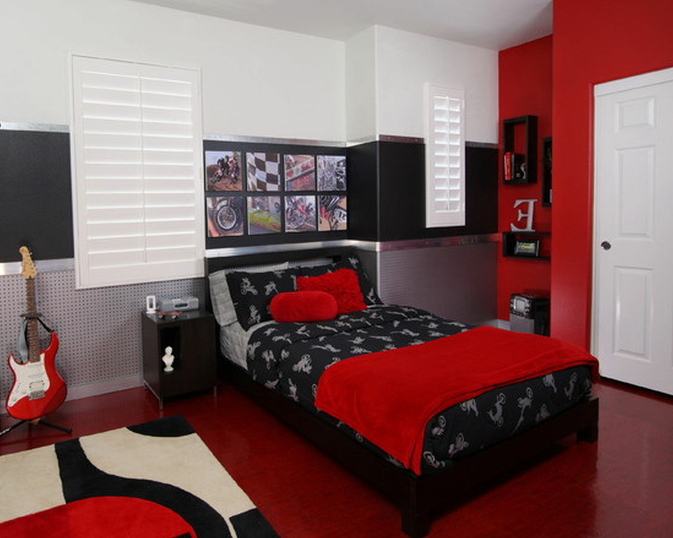 Magnificent rooms with red black and white decorating ideas ..