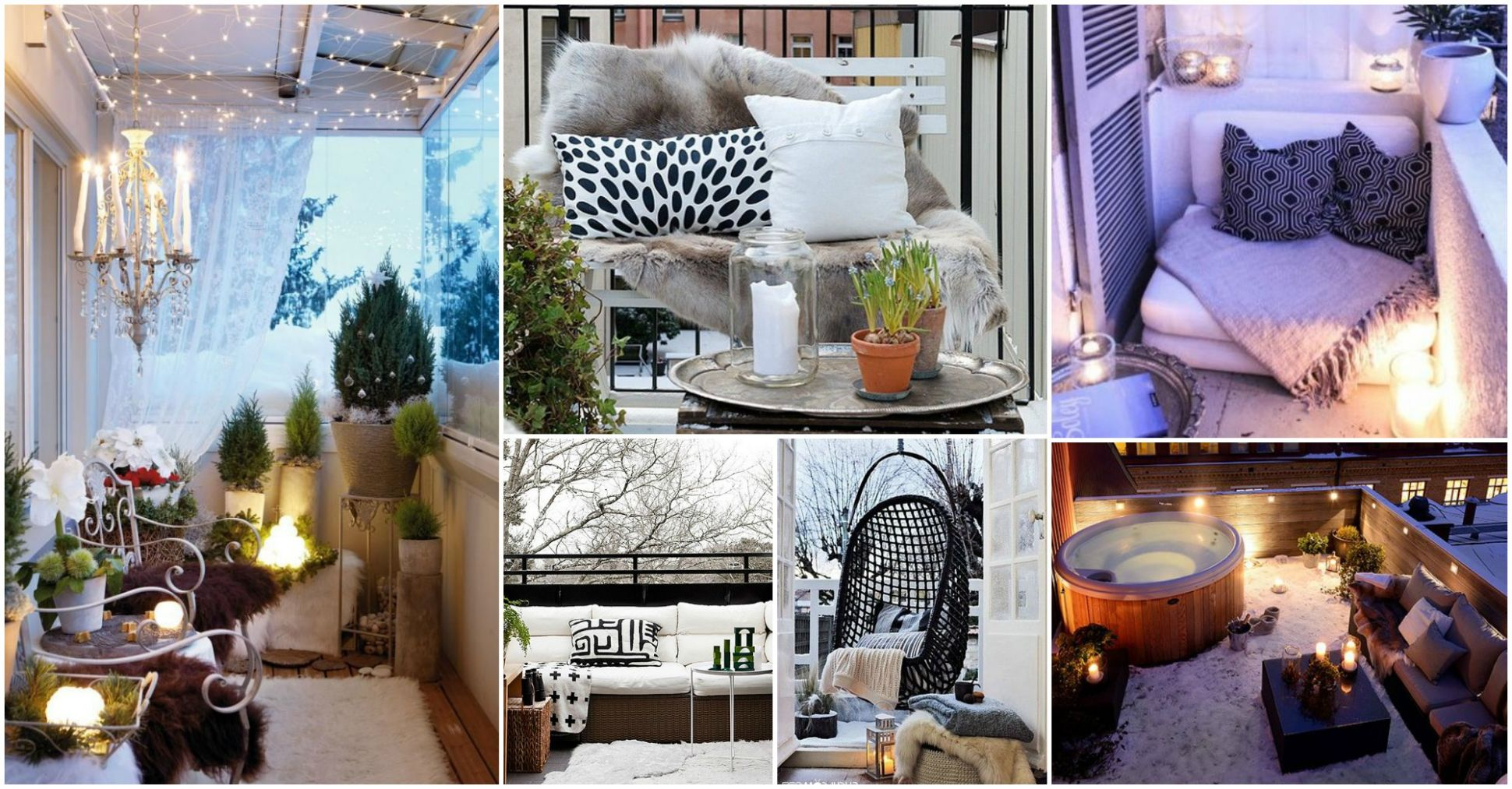 Make Your Own Winter Wonderland With These Winter Balcony Decor Ideas - balcony ideas winter