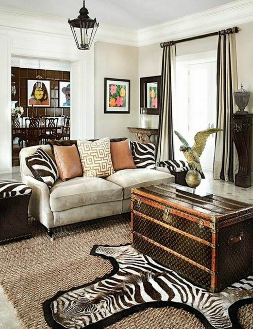 Make Your Rooms Look Fierce and Wild by Using Zebra Print