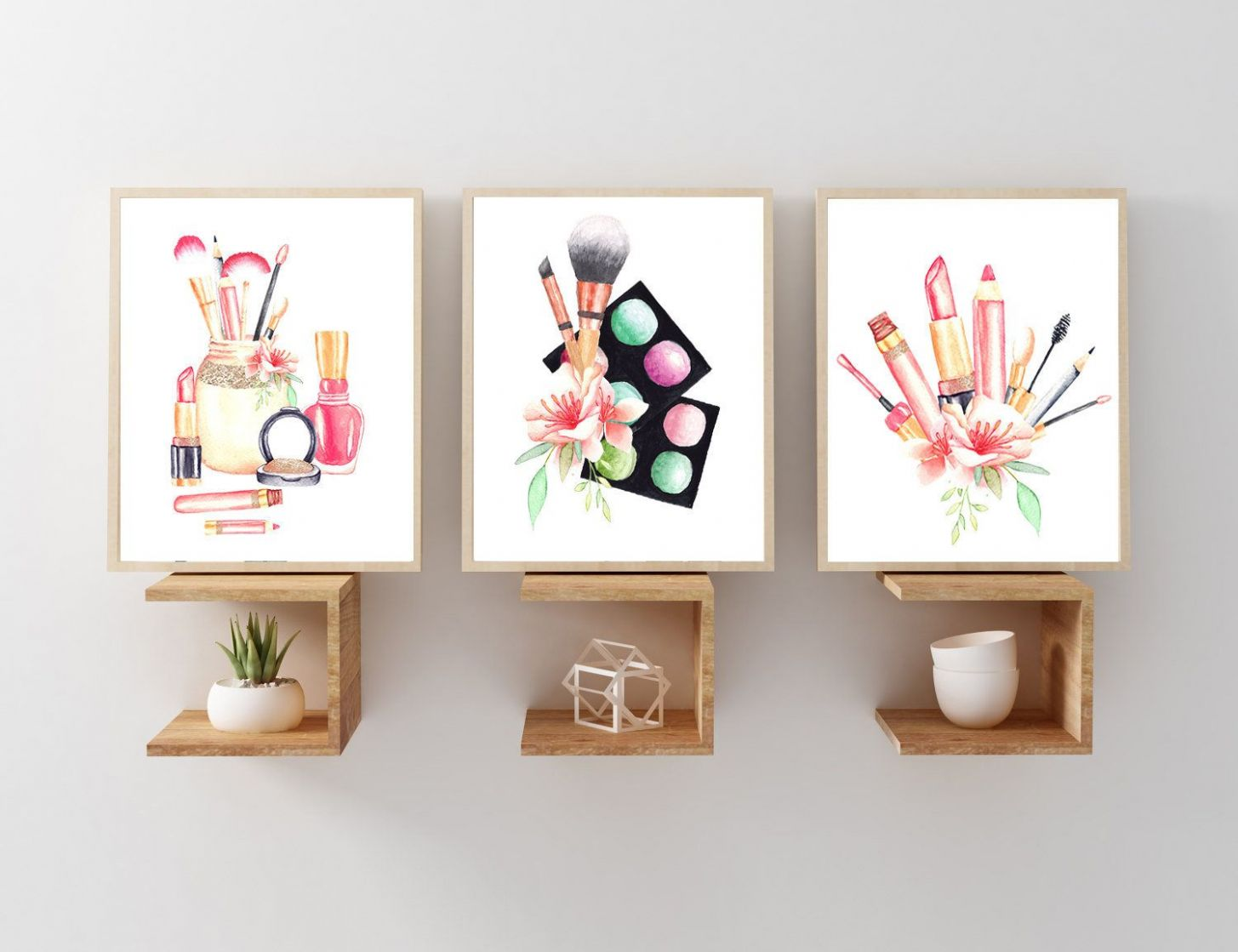 MAKEUP Wall Art, Makeup Room Wall Decor Canvas or Prints, Makeup ...