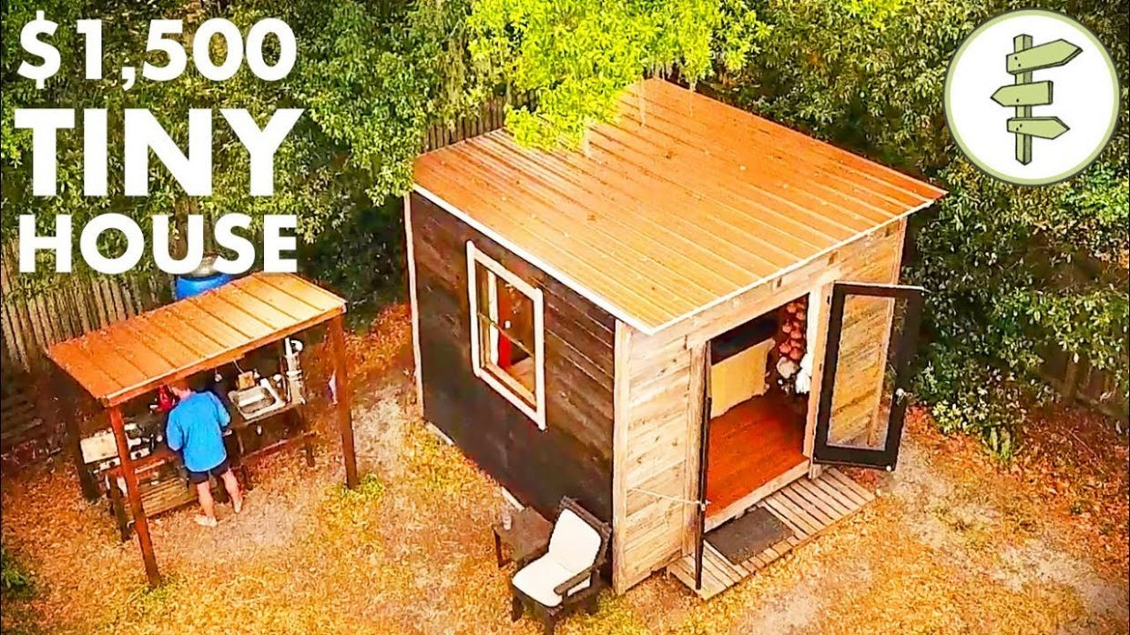Man Living in a 11'x11' Tiny House & Homesteading in the City