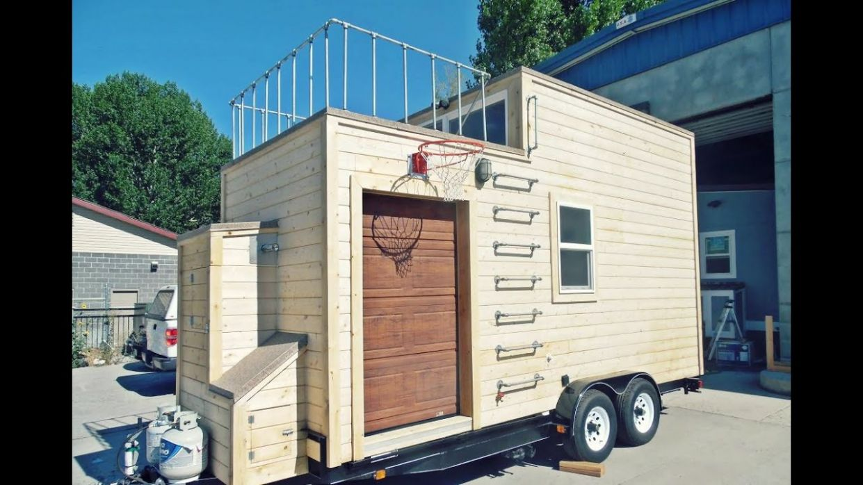 MANCAVE TINY HOUSE IS FOR THE GUYS - tiny house guys