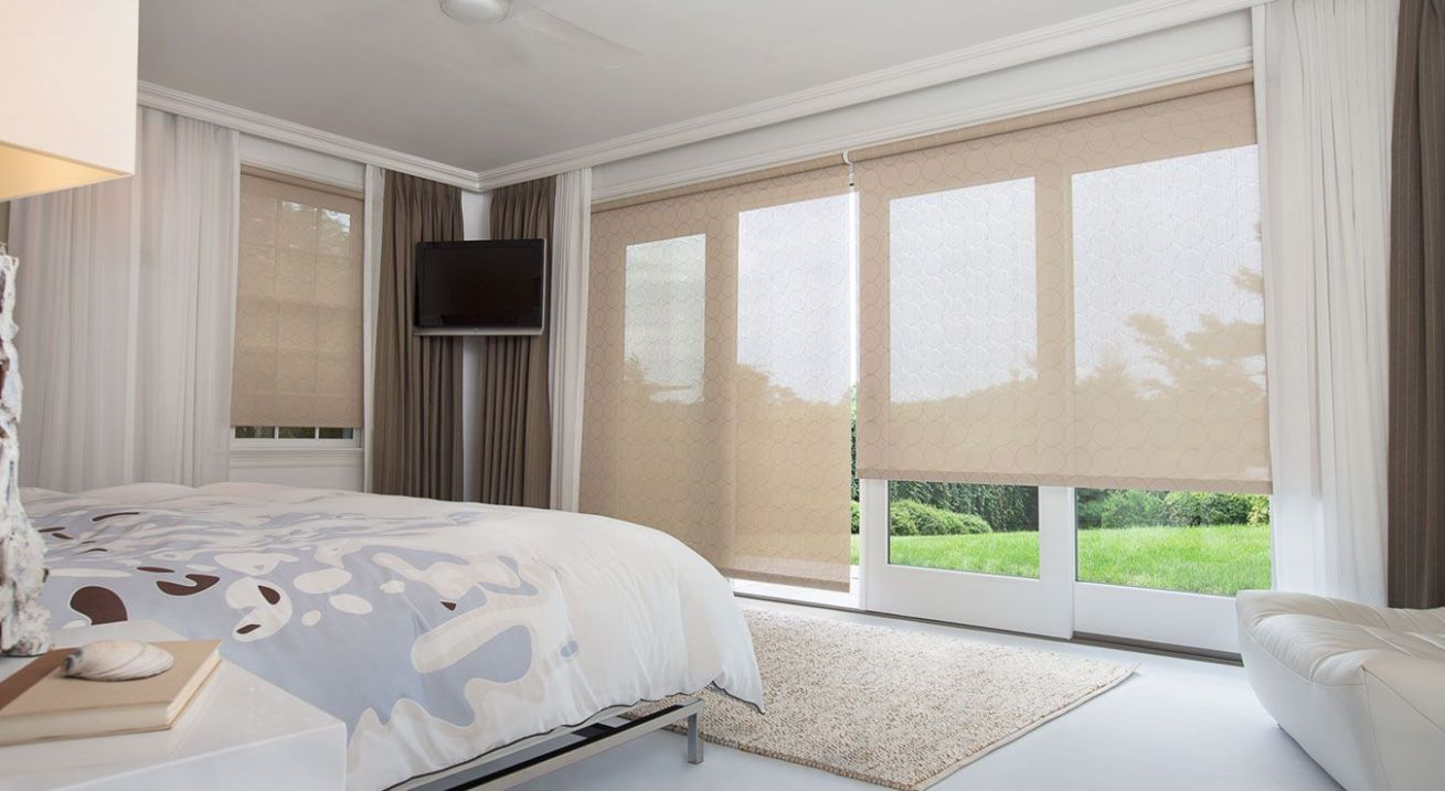 Master bedroom: Note sliding doors. May add sheer curtains ..