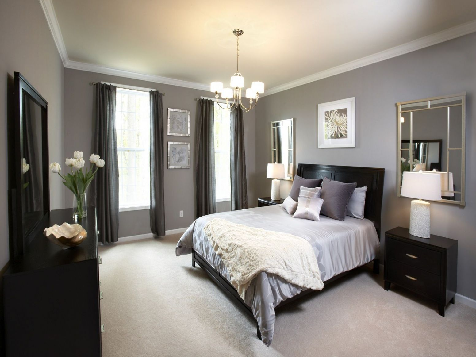 Master Bedroom Paint Colors With Dark Furniture | Home bedroom ..