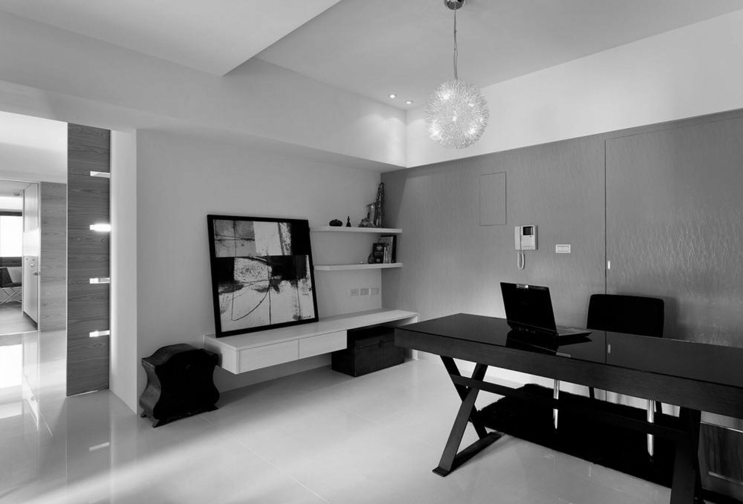 Mens Office Decorating Ideas Black And White Image Traditional ...