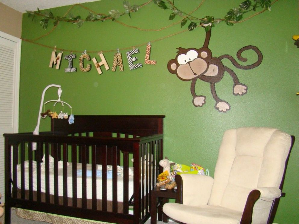 Michael's Jungle Baby Room | Jungle baby room, Jungle theme ...