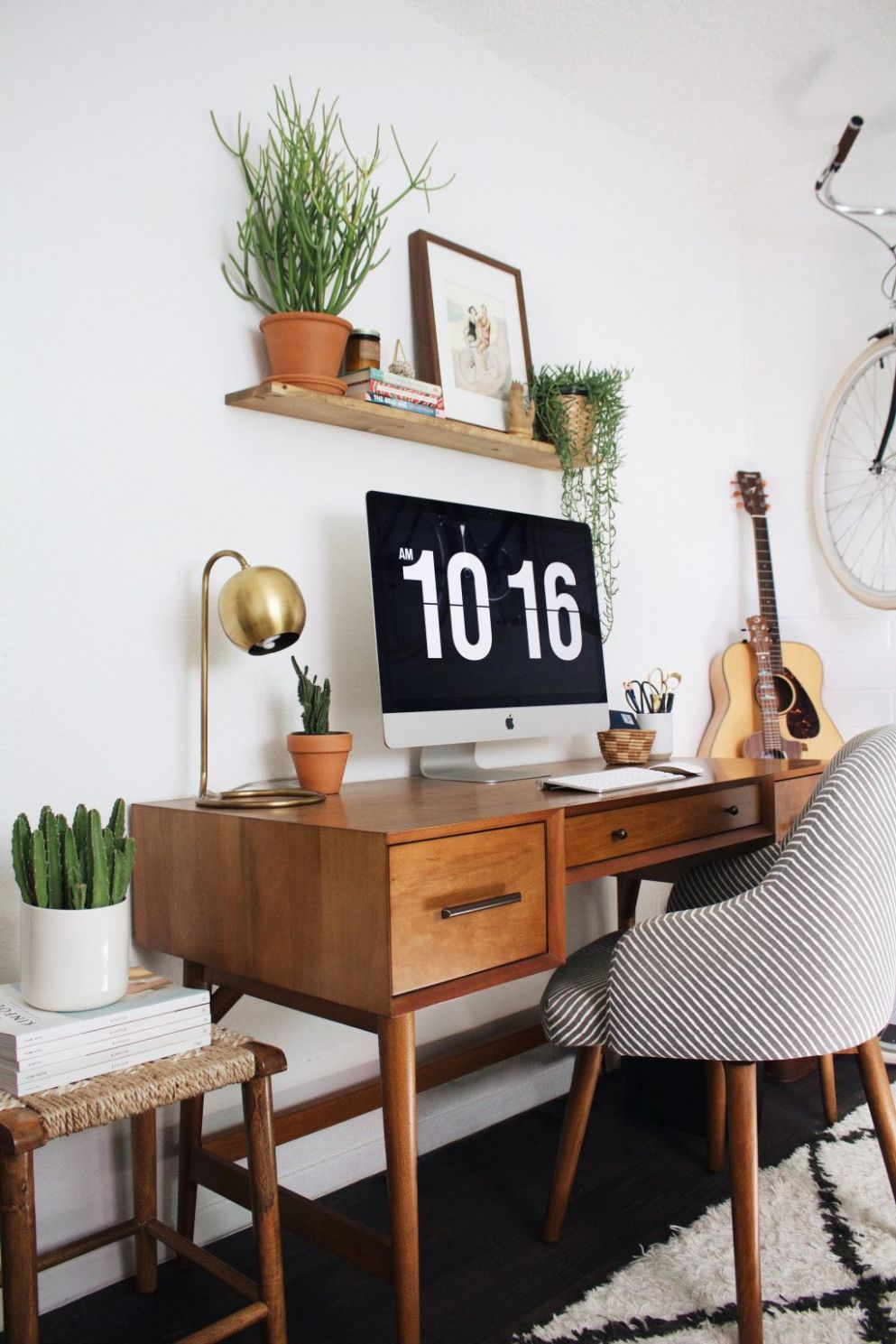 Mid-Century Modern Home Office | Home office decor, Retro home ..