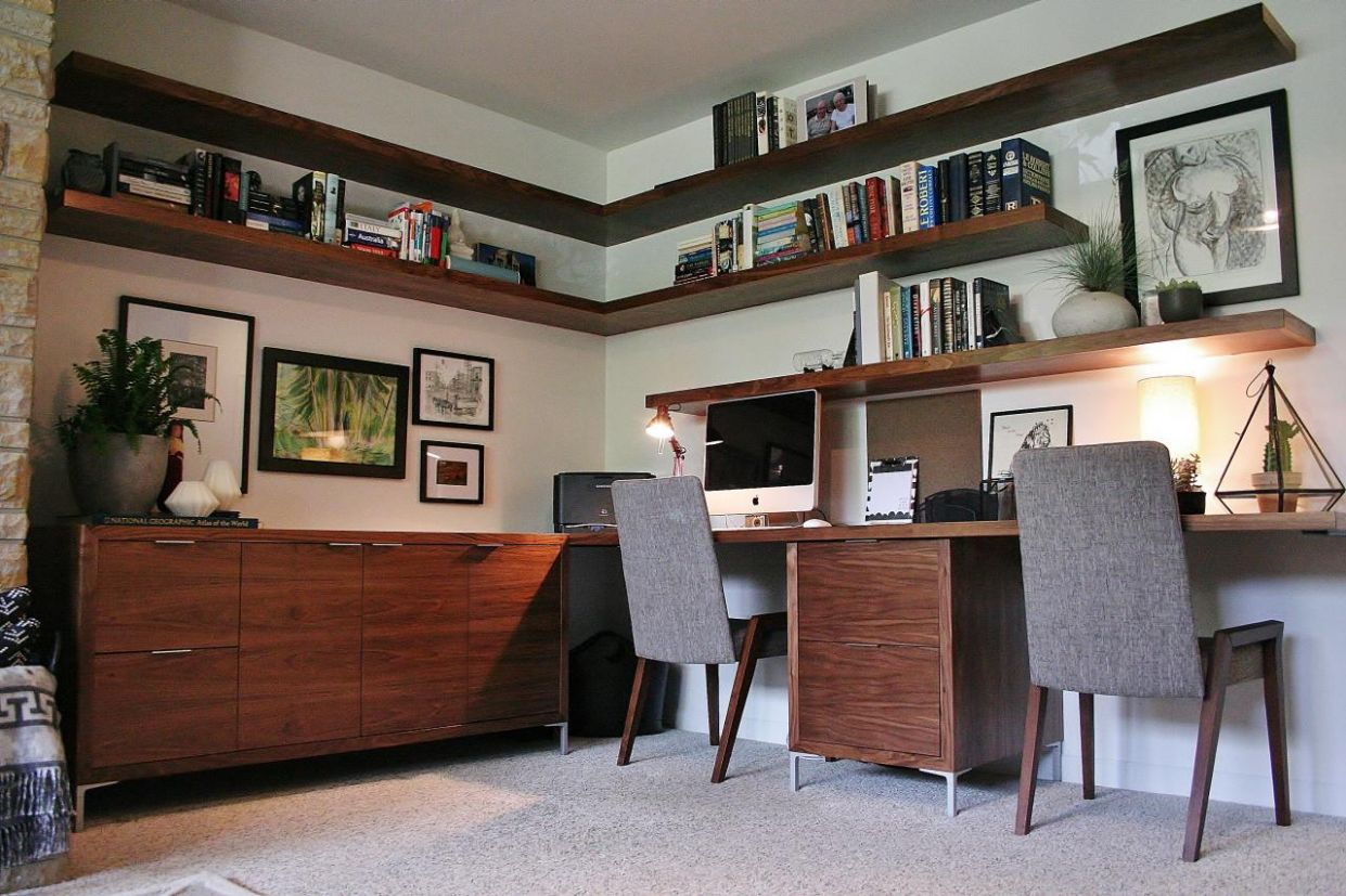 Mid-century Modern Home Office Ideas – Inspirations | Essential Home