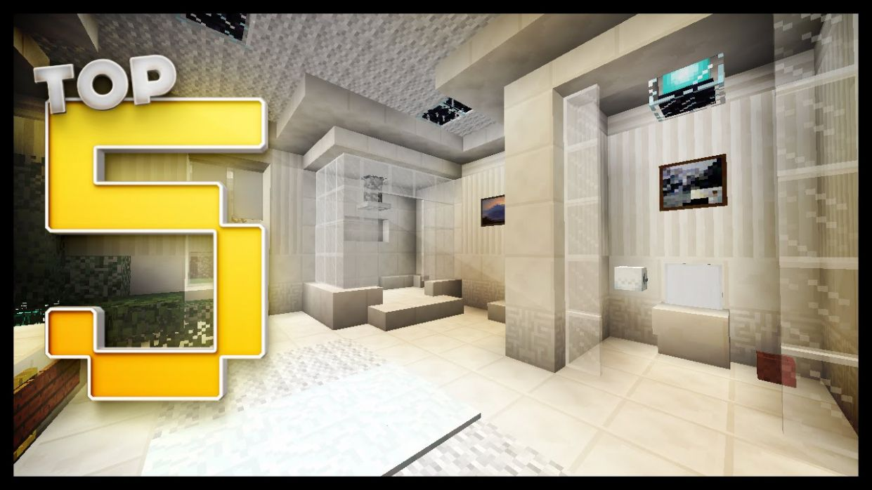 Minecraft - Bathroom Designs & Ideas - bathroom ideas minecraft