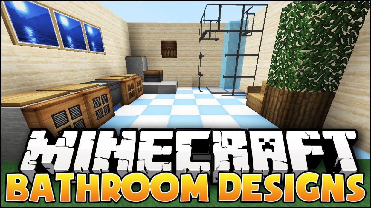 Minecraft: Bathroom Designs & Ideas - bathroom ideas minecraft
