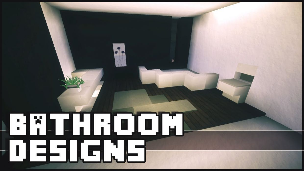 Minecraft - Bathroom Designs & Ideas - bathroom ideas youtube