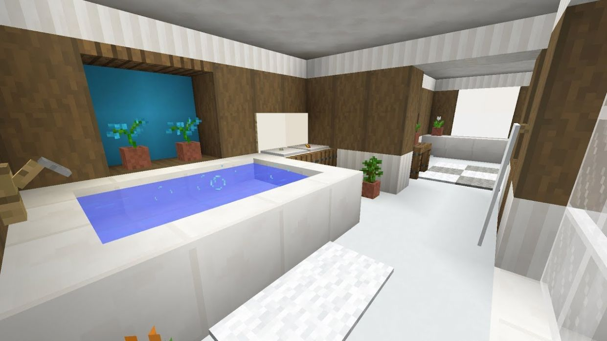 Minecraft Bathroom Interior Design - bathroom ideas minecraft