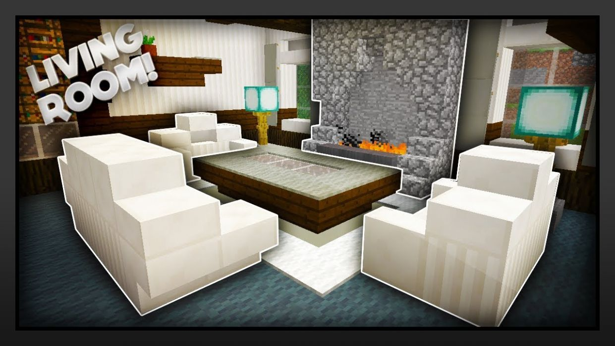 Minecraft - How To Make A Traditional Living Room - living room ideas for minecraft