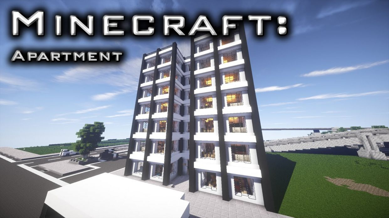 Minecraft: Modern Apartment Tutorial 11