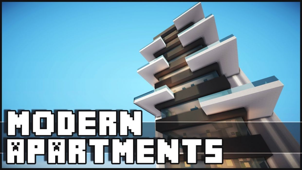 Minecraft - Modern Apartments - apartment design youtube