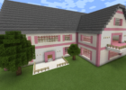Minecraft Pink House with Porch and Balcony | Cool minecraft ...