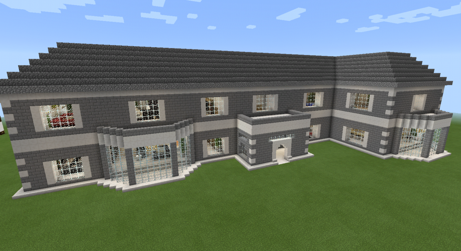 Minecraft Realistic Brick House with Balcony (With images) | House ...