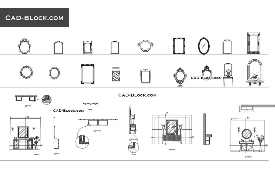 Mirror CAD Block free download