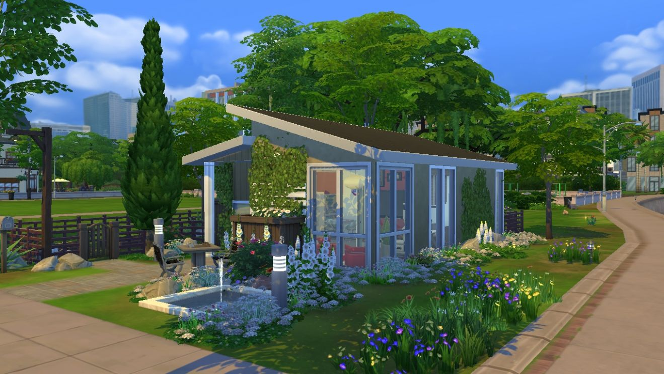 Mod The Sims - Sound of Serenity - tiny house for a small family - tiny house sims 4