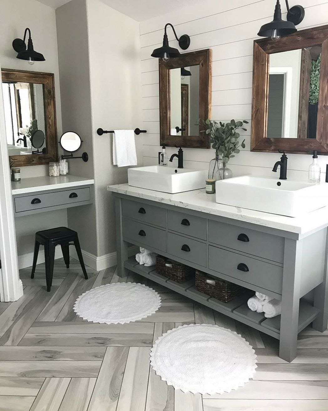 Modern Farmhouse Master Bath Renovation - Obsessed with our vanity ..