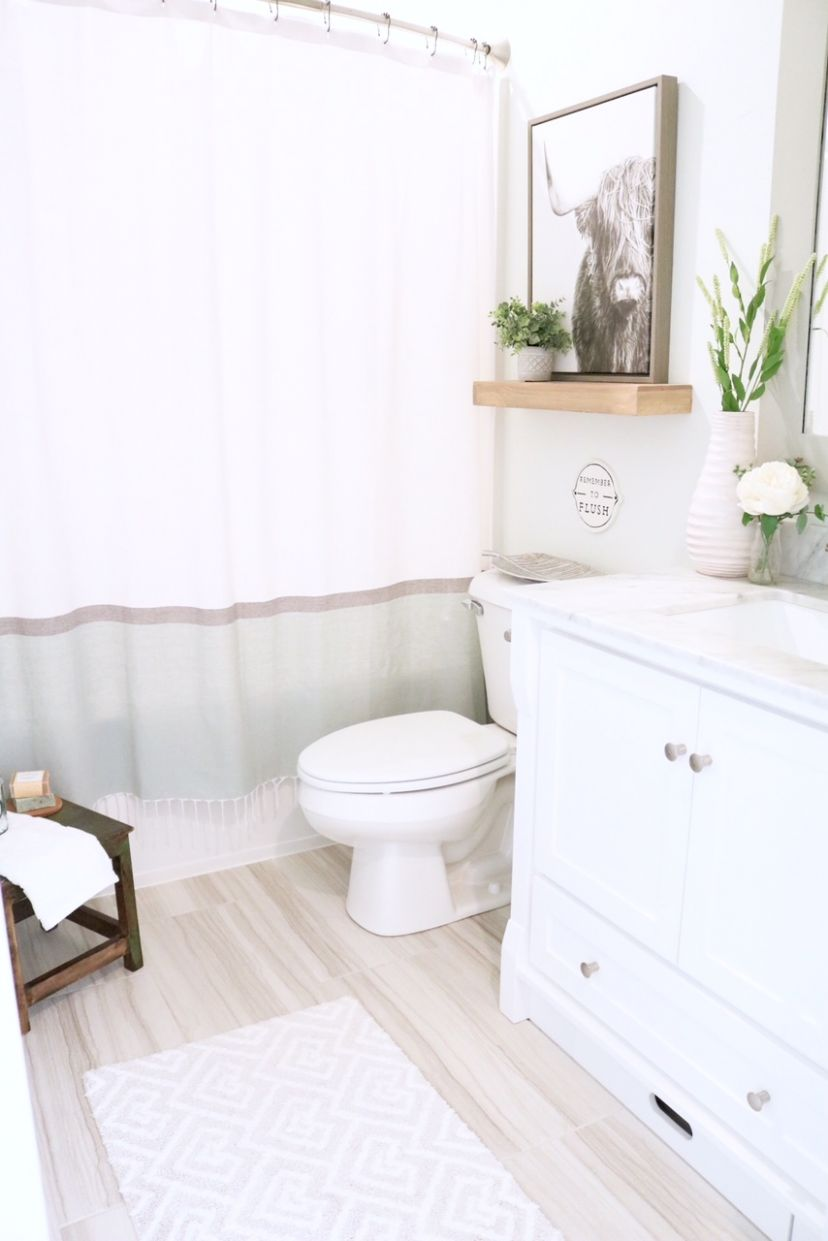Modern Farmhouse Small Bathroom Reveal - SUGAR MAPLE notes - bathroom ideas modern farmhouse