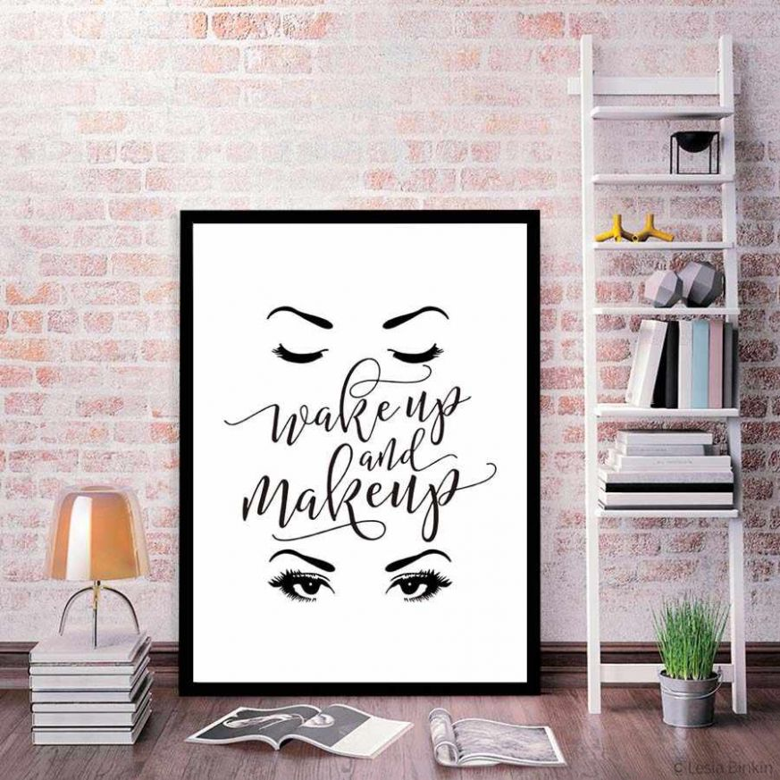 Modern Home Decor Nordic Poster&Print For Girl Dressing Room Bedroom Canvas  Painting Wall Picture Wall Art Mural Wake Up Make Up