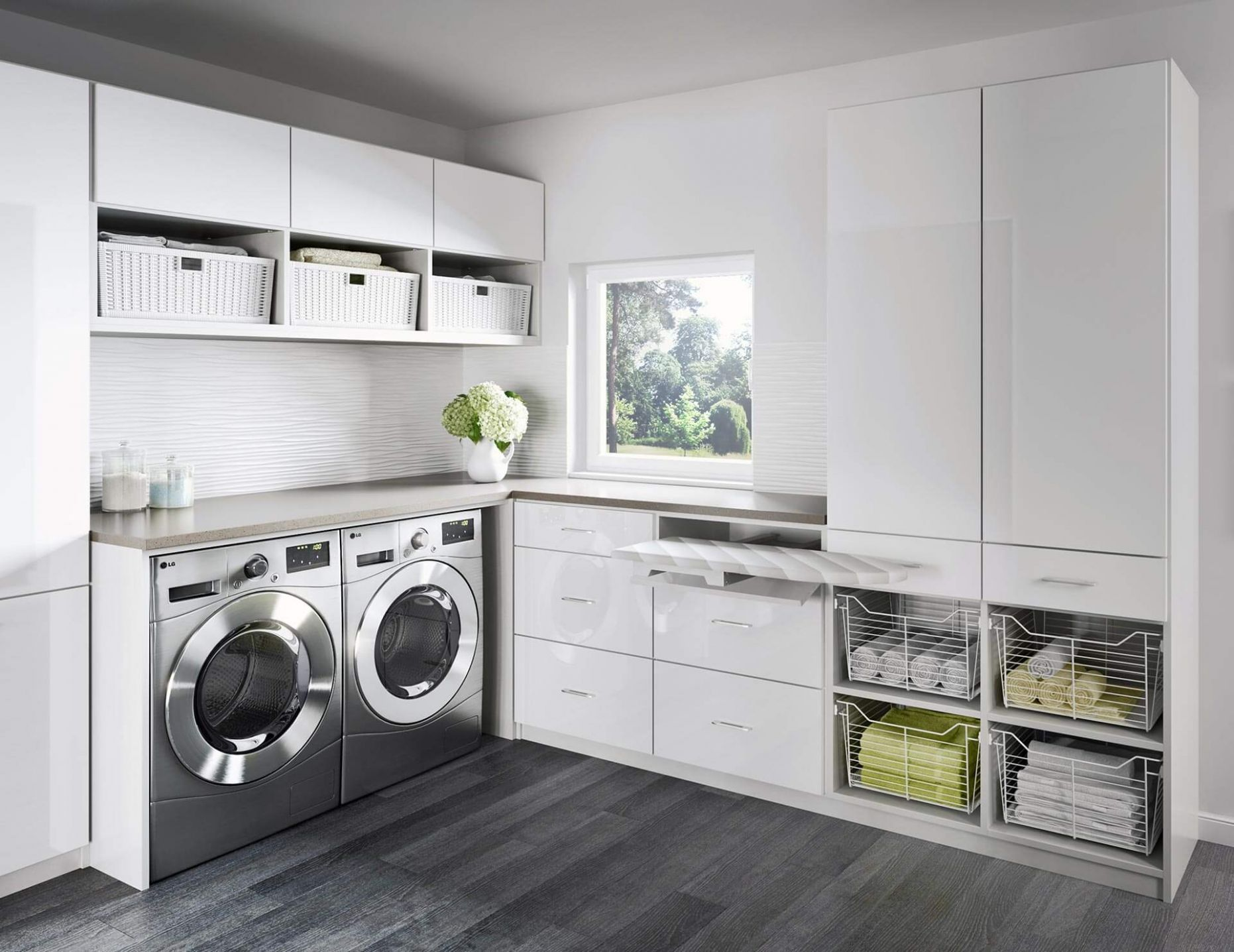 Modern Laundry Room Ideas for Small Spaces [ Updated 11 ] - laundry room ideas small spaces