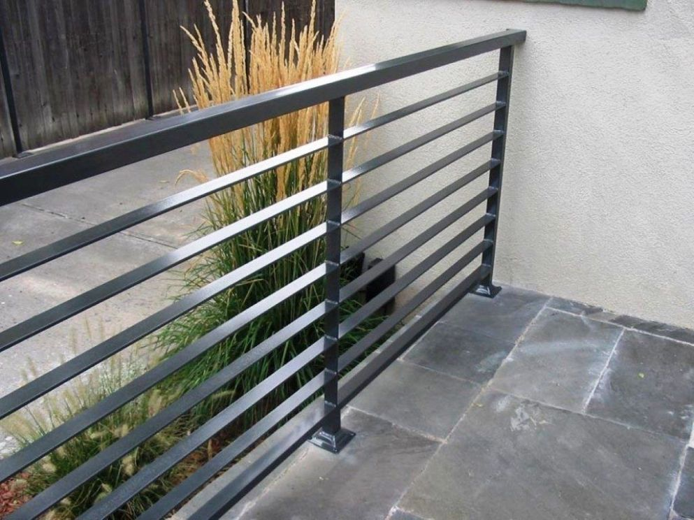 Modern Patio Railing Exterior Railings Toronto Deck Metal Uk ...