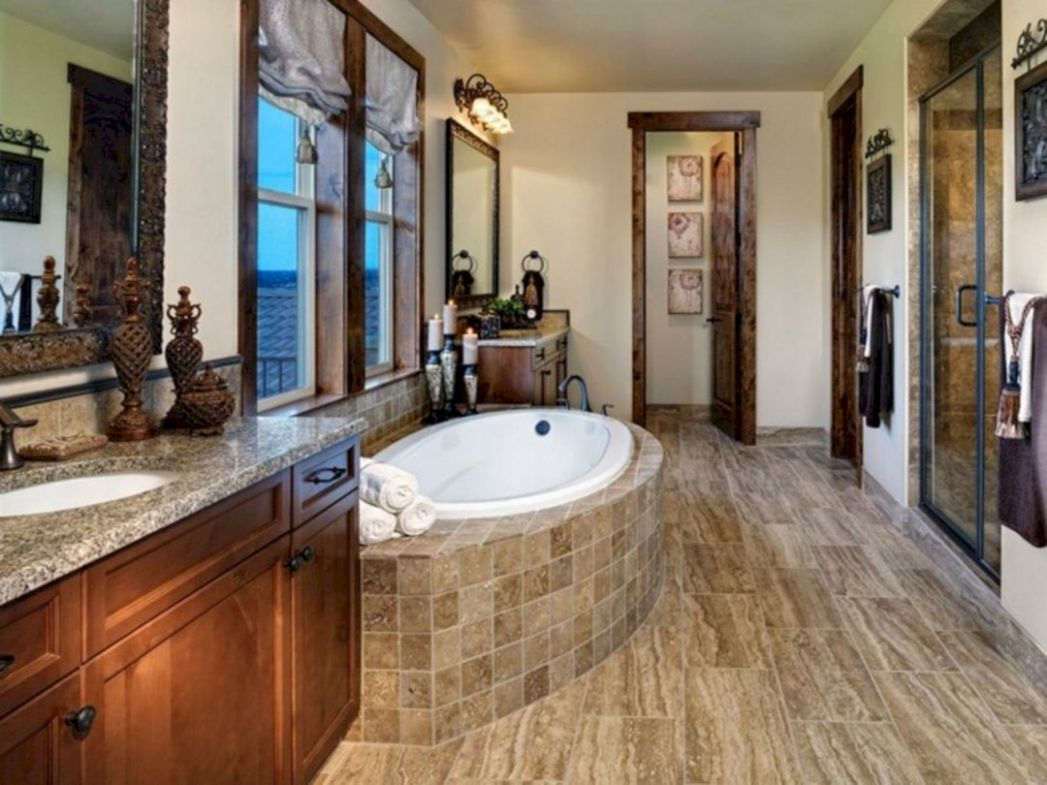 Modern Rustic Master Bathroom Ideas – DECOREDO