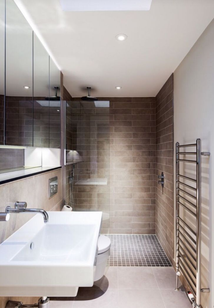 Modern Walk In Shower Design | Narrow bathroom designs, Long ..