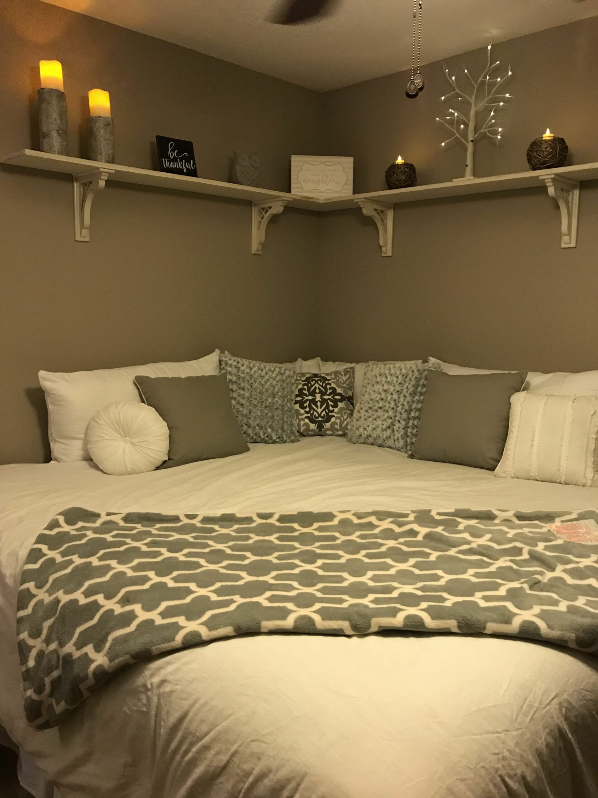 Moving bed to a corner and remove headboard and footboard ..