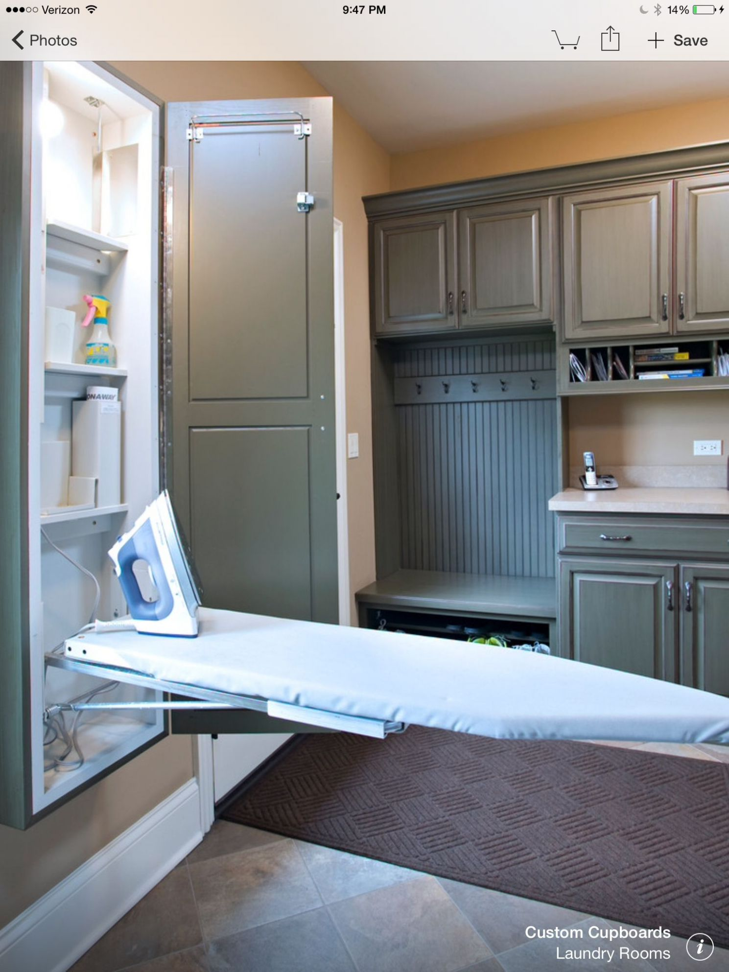Mud room built in ironing board cabinet | Big bathrooms, Laundry ...