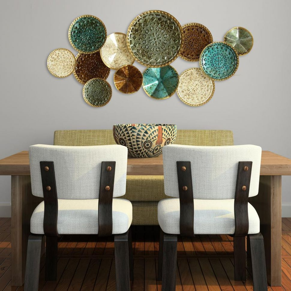 Multi Metal Plate Wall Decor