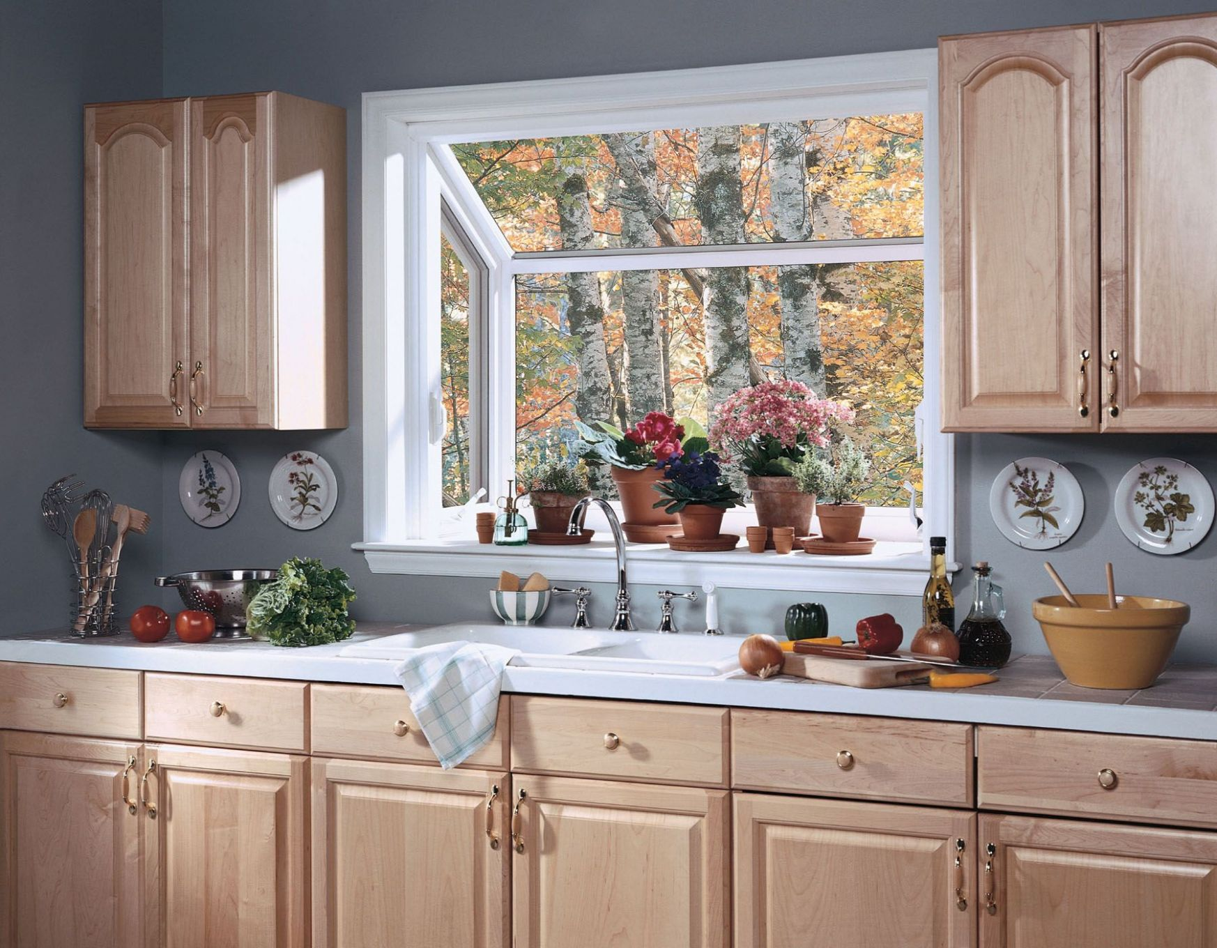 Mural of Garden Windows for Kitchen, Refreshing Part in the ..
