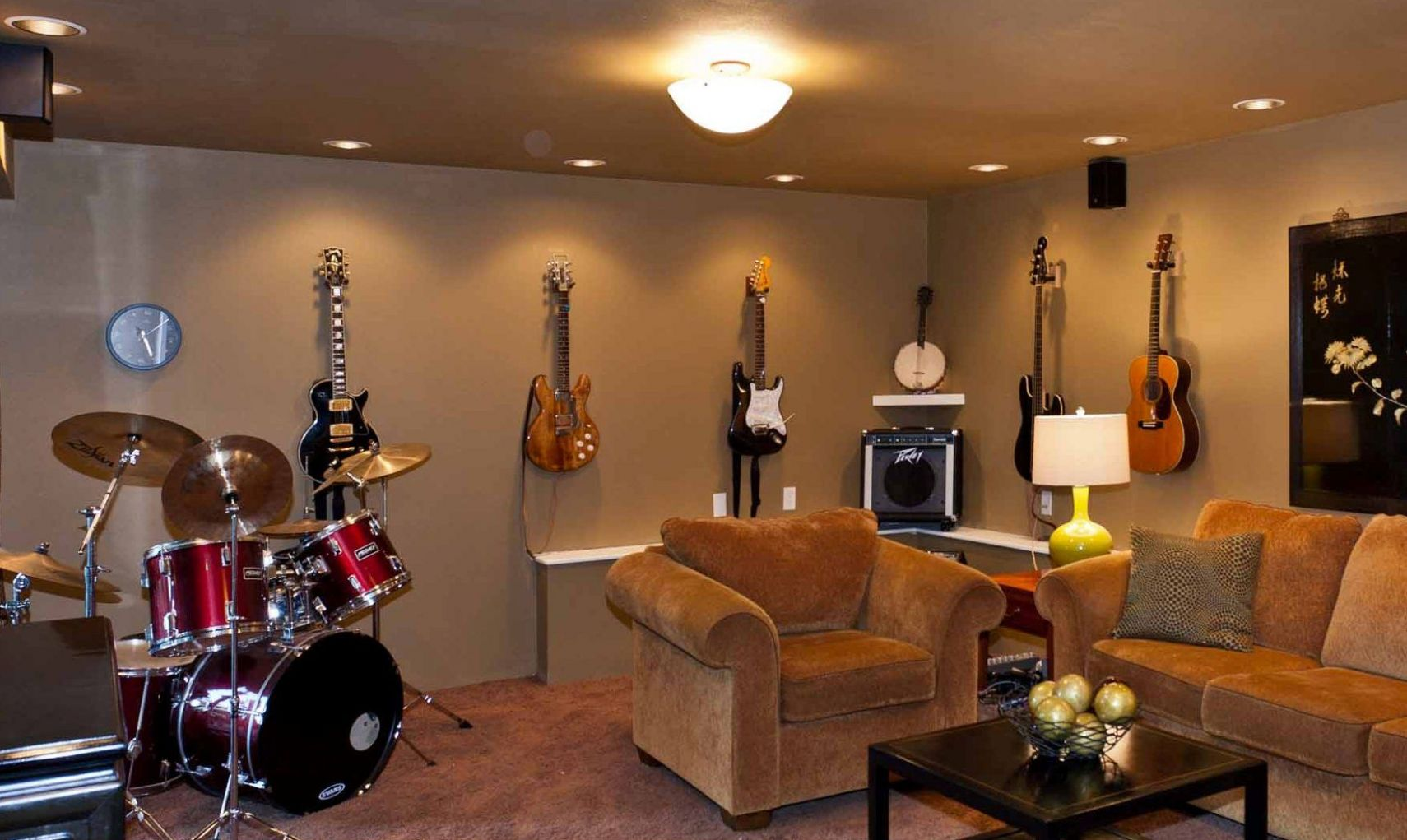 music room | Home music rooms - wall decor ideas music room