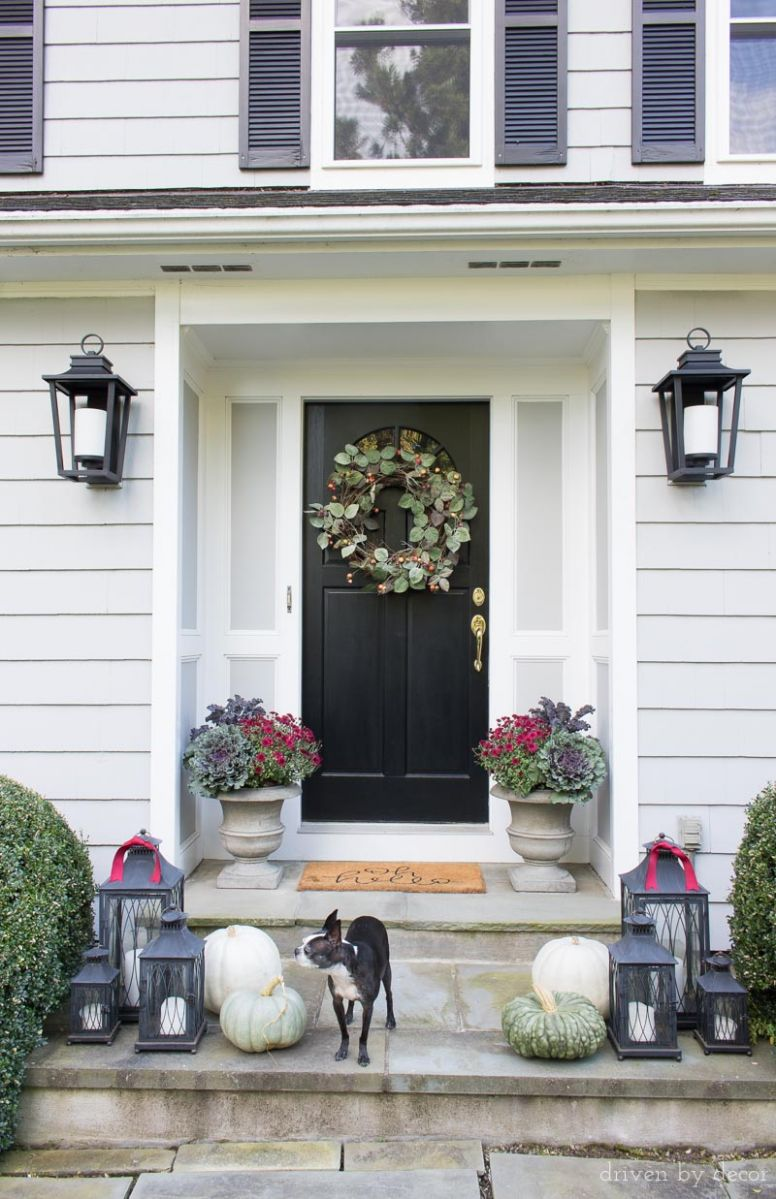 My Fall Home Tour: Fresh Ideas for Fall! | Driven by Decor - front porch lantern decor