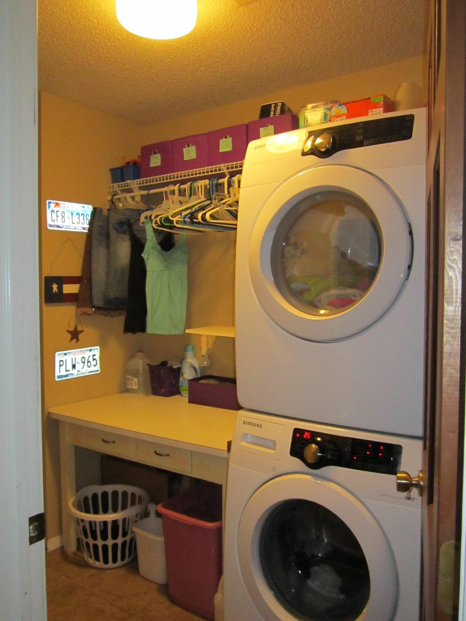 My laundry room is only 11 x 11ft. I had to utilize every inch of it ..