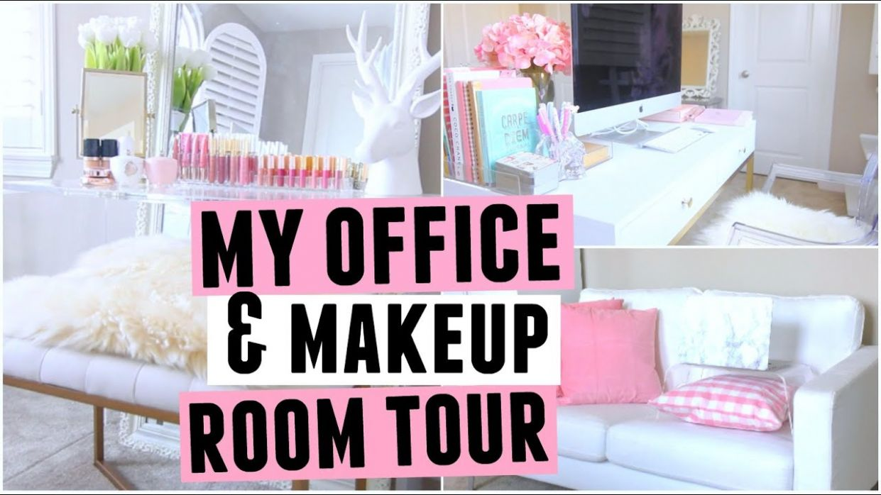 My New Office & Makeup ROOM TOUR! - makeup room office