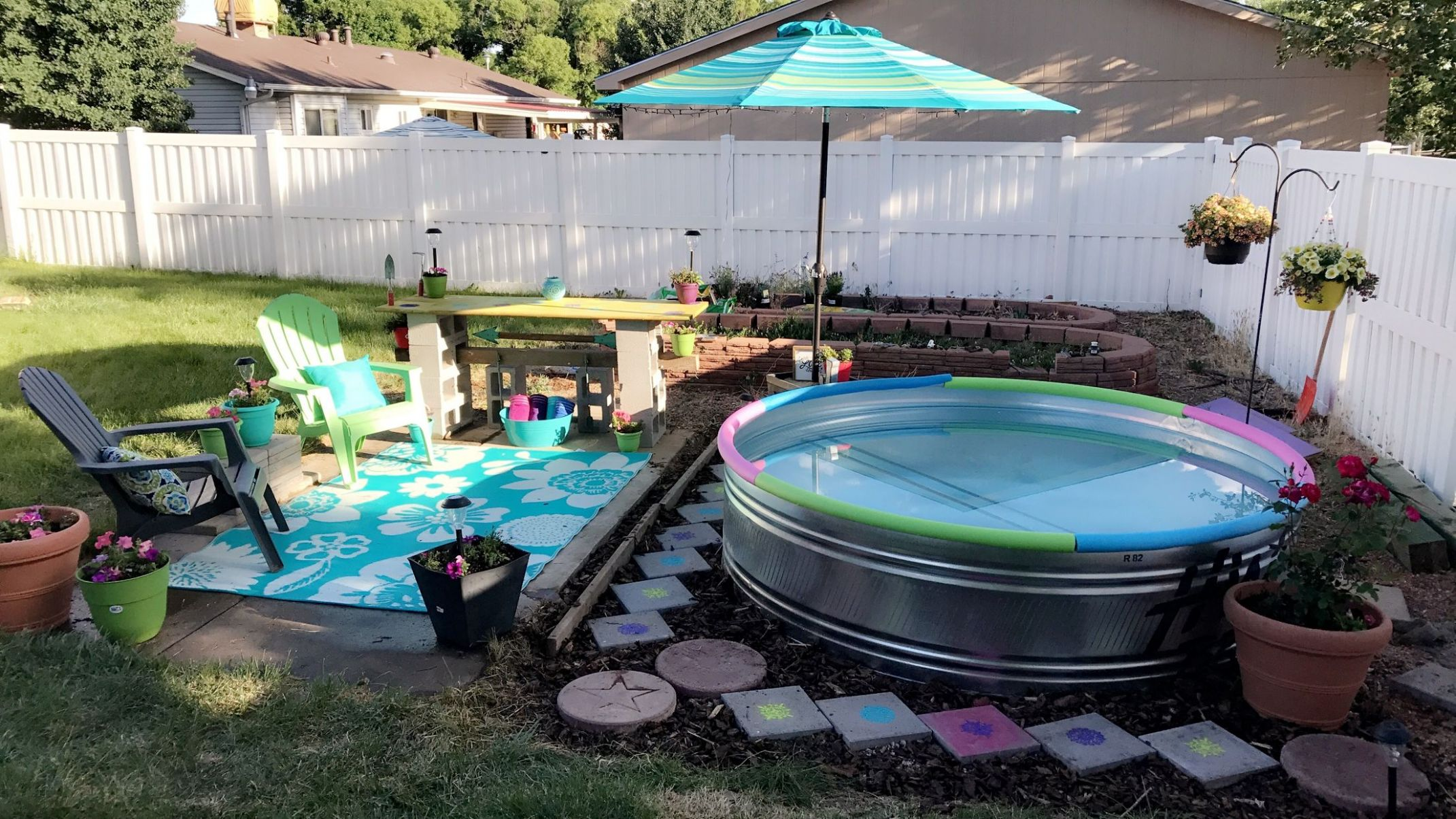 My own backyard dream thanks to Pinterest stock tank pool ...