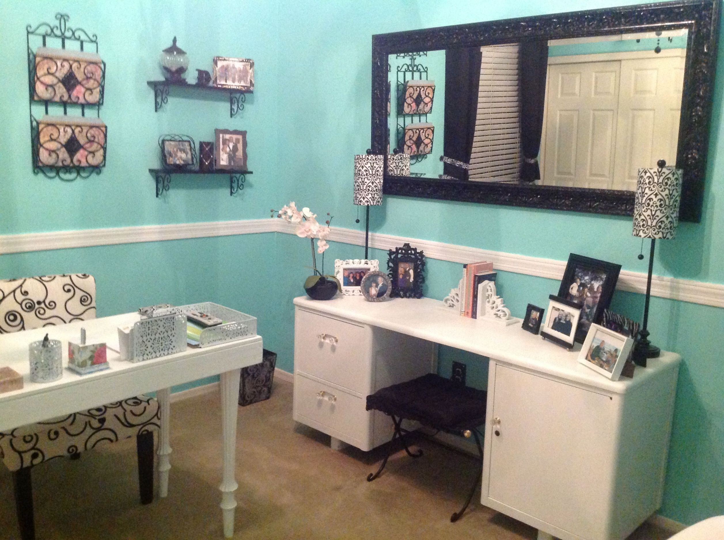 My Tiffany Blue DIY office | Tiffany blue office, Office colors