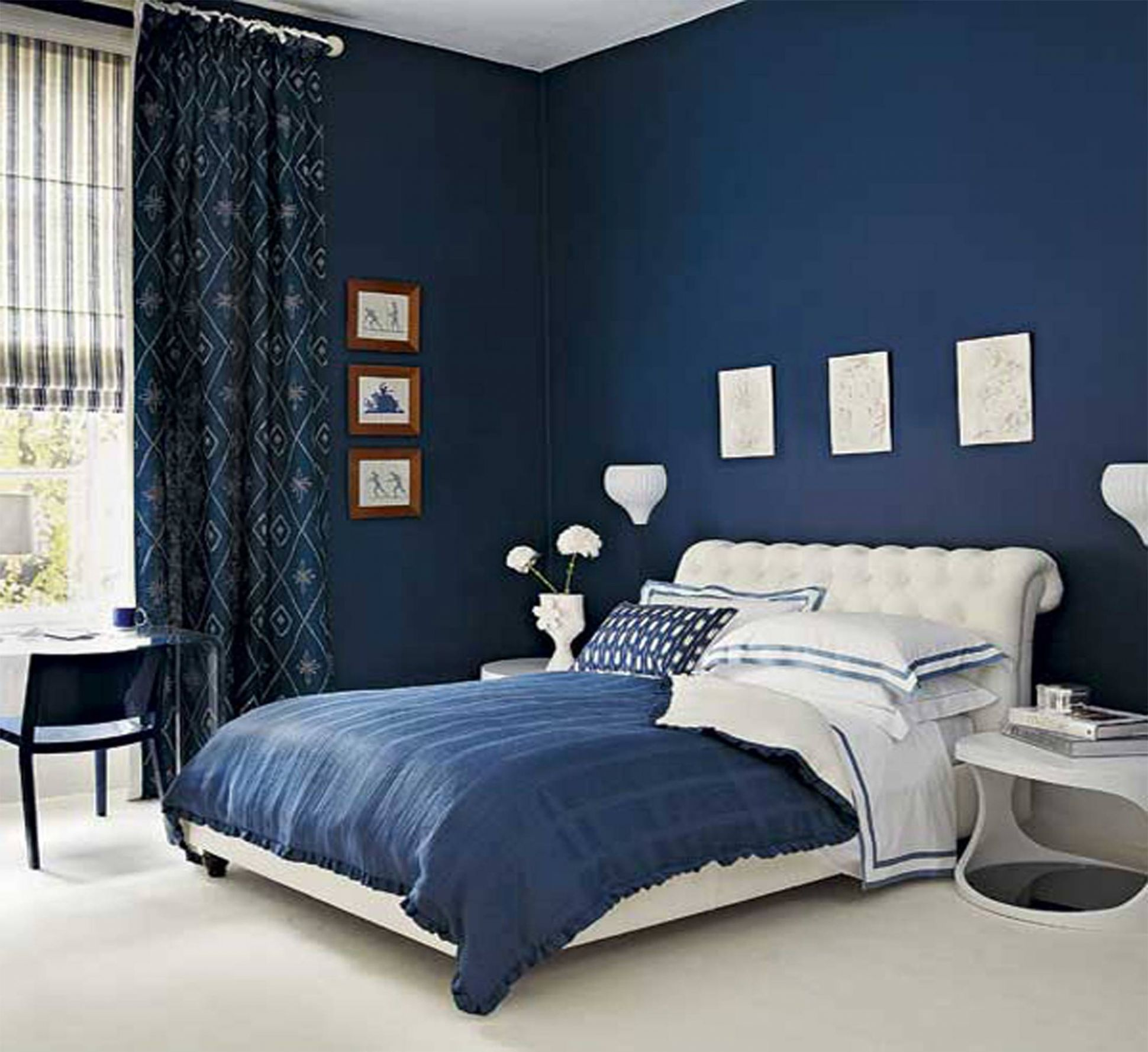 Navy Blue Black Bedroom Ideas Home Delightful - Homes Decor